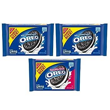OREO Original & OREO Double Stuf Chocolate Sandwich Cookies Variety Pack Family Size 3 Packs