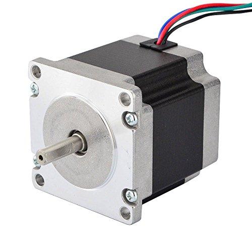 Stepper Online Nema 23 Schrittmotor, 1,26 Nm, 2,8 A, 4-adrig, 6,35 mm Schaft für DIY CNC-Roboter 3D-Drucker