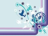 wandmotiv24 Fototapete Marie Floral Blüten Größe: 350 x 260 cm Wandbild, Motivtapete, Vlietapete KTk64
