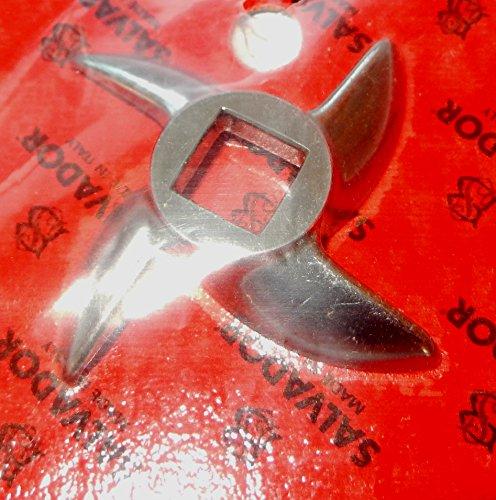 Salvador - Coltello per Tritacarne mod. 12 Acciaio Inox LAME PROFESSIONALI Italia