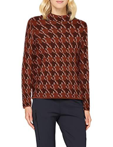 Gerry Weber Womens 1/1 Arm Pullover Sweater, Braun/Schwarz Gemustert, Large