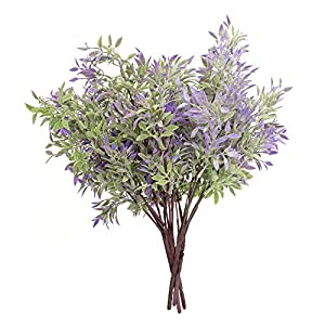 ATOFUL Christmas Artificial Flowers for Outdoor Indoor – Fake Flower Plants Arrangements Decorations Christmas Tree Decoration Flower