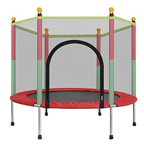 LKFSNGB Mini Trampolino per Bambini, Trampolino da Giardino con Rete di Sicurezza - Copertura Impermeabile in PVC, Trampolino da Gioco da 140 cm per Interno ed Esterno