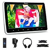 NAVISKAUTO 10.1' Car DVD Player with Wireless Headphone Support HDMI Input, 1080P Video, Sync Screen, AV Out &...