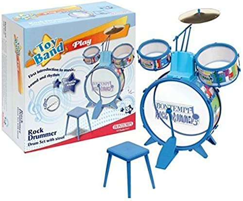 BONTEMPI Drum Set with Stool (4-Piece) by Bontempi