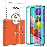 Amazon Brand - Eono Protector Pantalla para Samsung Galaxy A51, Cristal Templado Samsung Galaxy A51, con Posicionador, Sin Burbujas, 6.5 Pulgadas [4 Piezas]