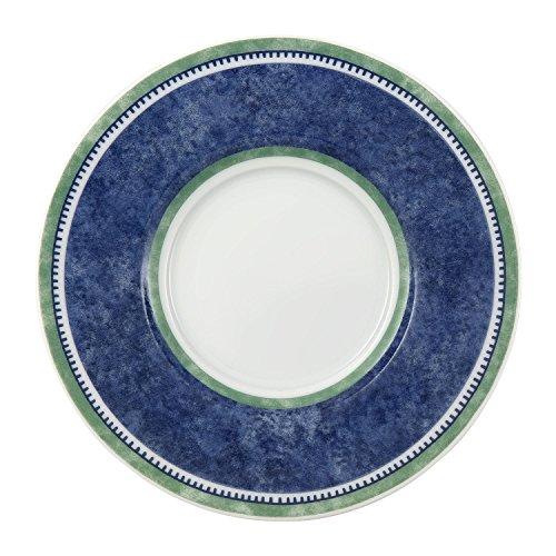 Villeroy & Boch - soucoupe à café/thé Switch 3, soucoupe au style méditerranéen, compatible lave-vaisselle et micro-onde, blanc/bleu/vert, 15 cm