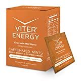 Viter Energy Caffeinated Mints - 40mg Caffeine, B Vitamins, Sugar Free Vegan Breath Mint. Powerful Energizing Boost. 2 Energy Mints Replace 1 Coffee, Gum, Chews, Gummies (Chocolate Mint, 40 Pack Box)