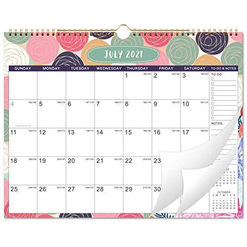 "2021-2022 Calendar - Monthly Wall Calendar 2021-2022, 15"" x 11.5"", Jul 2021 - Dec 2022, Twin-Wire Binding, Blank Blocks with Julian Dates, Thick Paper"