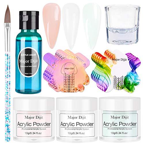 Dip Powder Nail Kit, Powder Liquid Nail Art Decoration, Nail Art Crystal Powder Tool, Juego Profesional De Monómero Líquido (como Se Muestra)
