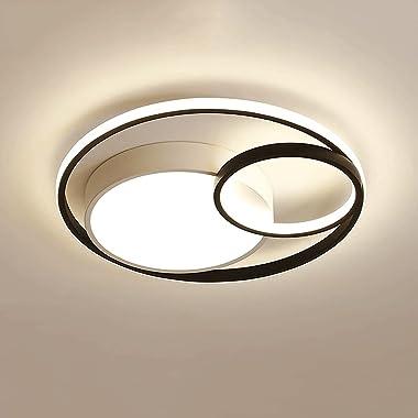 YHBHNB Plafonnier LED intégré Nordique, luminaire Moderne de ménage, éclairage de la Chambre Principale Simple, Lampe d'é