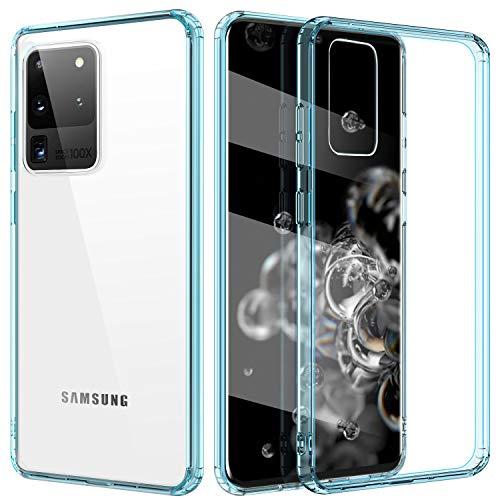 TiMOVO Compatibile con Samsung Galaxy S20 Ultra Cover, Sottile Leggero Custodia Antiurti PC Rigido + TPU Morbido Paraurti Case per Galaxy S20 Ultra 5G 6.9' 2020 - Trasparente Blu