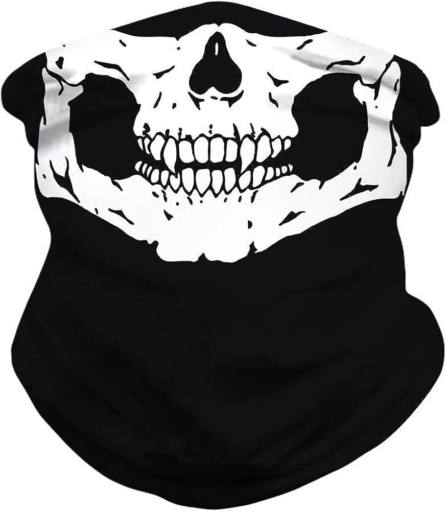 Tobeffect Neck Gaiter Multifunctional Headwear Bandana UV Protective Reusable Balaclava Halloween Decorations Clothing