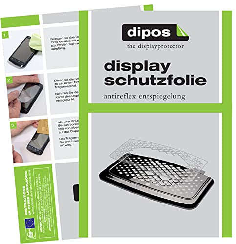 dipos I 2X Protector de Pantalla Mate Compatible con Philips EP5443/90 Bandeja de Goteo pelicula Protectora