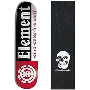 Element Skateboards Section Deck Skateboard 7.75 Skull Griptape