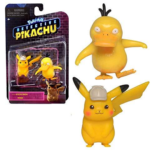 Auswahl Spiel-Figuren | Pokemon | Meisterdetektiv Pikachu | Mini Figuren, Spielfigur:Meisterdetektiv Pikachu & Enton
