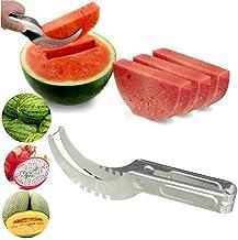 DealMux Watermelon Cutter Knife Cucumis Melon Cutter Chopper Fruit Salad Cucum SILVER