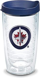 Tervis 1064960 NHL Winnipeg Jets Primary Logo Tumbler with Emblem and Navy Lid 16oz, Clear