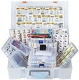 XXXL Electronic Component Assortment Box Kit, 5228 pcs, Capacitors, Transistors, Potentiometers, Diodes, ICs, Inductors, Regulators, Mosfets, Trim Pots, LEDs, PCB, Photoresistors, Terminals, Resistors