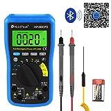HoldPeak HP-90EPD Multimetro Digitale Bluetooth App Multimetro Multi Tester Autonomia Ohmetro per Test Tensione AC/DC Resistenza Corrente capacità per Lab, Auto e Circuito (Batteria Inclusa)