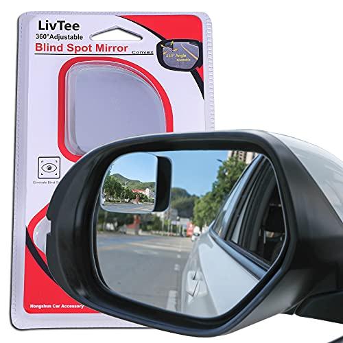LivTee Blind Spot Mirror,Fan Shaped 2.5'' HD Glass Frameless Convex Rear...