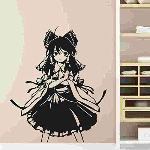 yaoxingfu Pegatina Touhou Project Sticker Anime CartoonCalcomanía Etiqueta Engomada del Coche de Vinilo Pegatinas de Pared Decoración Home Decora Amarillo 48x58 cm