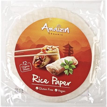 NUTRITION & SANTÉ IBERIA S.L. (Natursoy) Papel de arroz para rollitos Amaizin, 12 Tortitas