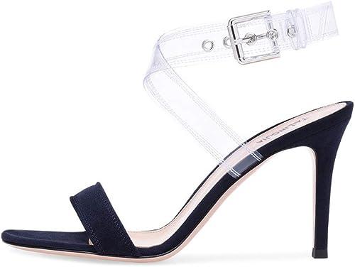 Transparente Peep Toe Sandalen Sexy Sexy Sexy Damenschuhe,MWOOOK-900 Knöchel Schnalle Party Freizeit Hochzeit Abend Sommer Schuhe  Rabatte kaufen