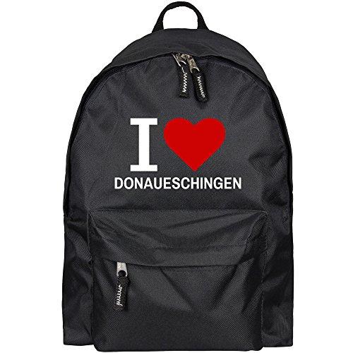 Rugzak Classic I Love Donaueschingen zwart - grappig grappig spreuken party tas