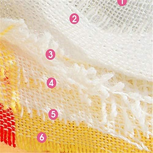 winkong ベビー ビブ 綿100% 6重ガーゼ 花びら型 360度回転 12枚