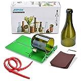 AGPTEK Bottle Cutter Kit, Taglia bottiglie di Vetro Rotonde, Taglia Bottiglie Vetro Professionale, Cutter Tagliavetro Bottiglie di Vino e Bottiglie di Birra - Fai da Te Taglio delle Bottiglie