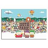 YRTZ Anime South Park Poster auf Leinwand, modernes Büro,