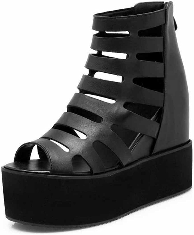 Women Hollow Roman Sandals New Platform Peep Toe Sandals Large Size 40-43