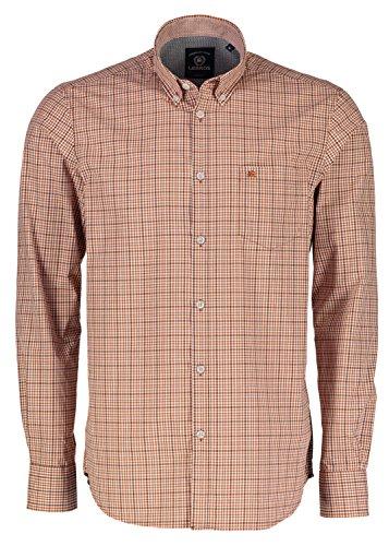 LERROS Herren Hemd Freizeithemd, Orange (Soft Copper 941), Large