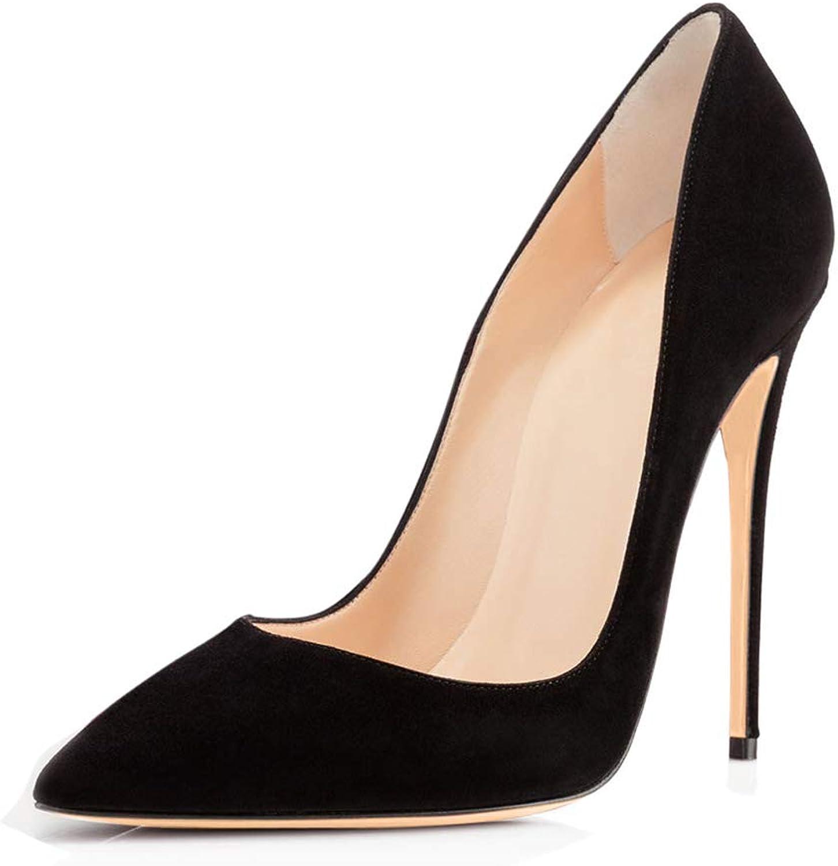 Damen Stiletto Wildleder High Heels,MWOOOK-257 Handmade for Party Schuhe Abendschuhe Dress Stiletto schuhe