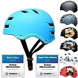 SkullCap® Skateboard & BMX Casque De Vélo pour Adultes - 20 Design, Conception: Blue Ocean, Taille: 58-61 cm