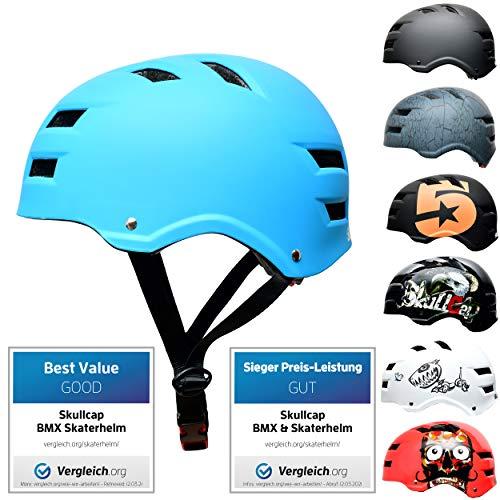 Skullcap® Skaterhelm Erwachsene hellblau Blue Ocean - Fahrradhelm Damen Herren ab 14 Jahre Größe 55-58 cm - Scoot and Ride Helmet Adult Light Blue - Skater Helm für BMX Inliner Fahrrad Skateboard