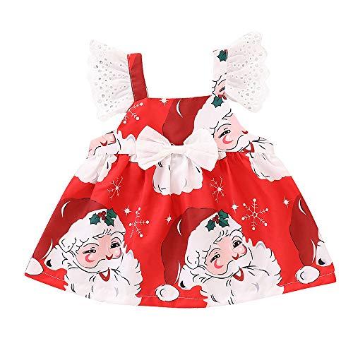 Prinzessin Party Mini Kleid MEIbax Kleinkind Kinder Baby Mädchen Sleeveless Cartoon Print Kleid Weihnachten Kleidung Tops t-Shirt-Kleid