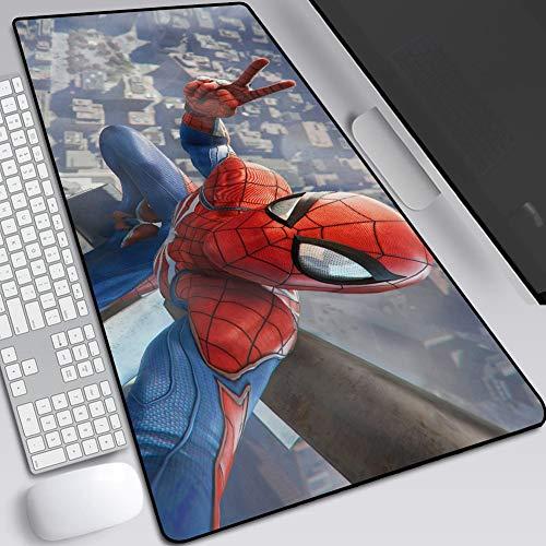 Altamente Mouse Pad Sensibile, Vendicatori Iron Man Spider-Man, I Giochi Anime Esteso Tastiera Sottomano, Base-300x800 Gomma Antiscivolo / 400X900mm A+++++++ ( Colore : J , Size : 300X800X3mm )