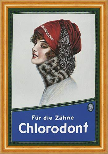 Kunstdruck Chlorodont Leo Werke Zahnpasta Mundgeruch Reklame A3 05 Gerahmt