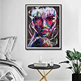 ganlanshu Pintura sin Marco Personajes Color Pintura al óleo Cuadros de Pared decoración del hogar Carteles e Impresiones Acuarela Arte Pintura Lienzo ZGQ2527 40X50cm