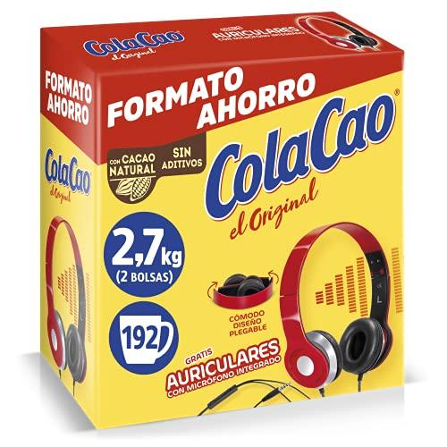 Cola Cao Original, con Cacao Natural, 2.7Kg (Auriculares)