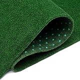 TAPISO Césped Artificial Exterior Interior Alfombra Antideslizante Hierba Sintético Balcón Terraza Verde a Medida 200 x 100 cm