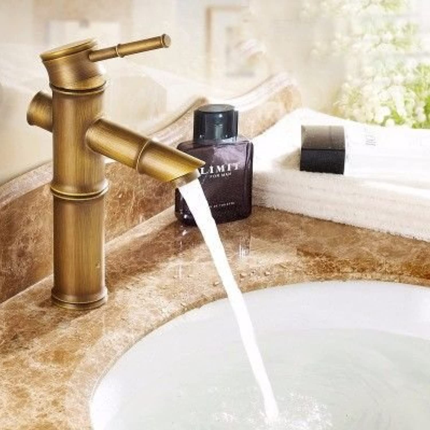 ETERNAL QUALITY Bathroom Sink Basin Tap Brass Mixer Tap Washroom Mixer Faucet Basin faucet antique bamboo wash basins and cold water slot blender xklj Kitchen Sink Taps