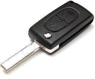2 Tasten Schluessel Gehaeuse Klappschluessel Fernbedienung Autoschluessel ohne Elektroni für Peugeot 207 307 308 407 408