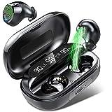 Auriculares Bluetooth, Auriculares Inalámbricos con Micrófono, 150 Horas de reproducción con Caja de Carga, IPX7 Impermeable, para Tdeportesrabajo/Deportes