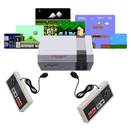 Classic Mini NES Retro Console AV Output Game Console Built-in 620 Games with 2 Classic Game console...