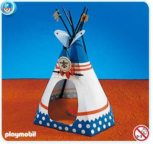 Indianerzelt mit Feuerstelle 7172 PLAYMOBIL®
