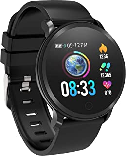 BingoFit Fitness Tracker, Smart Watch IP68 Waterproof Activity Tracker with Heart Rate Monitor, Sleep Monitors, Calorie, Pedometer, Blood Pressure Sport Smartwatch for Men Women Kids Gifts