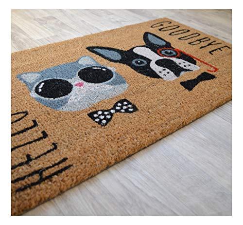 Decoweb Paillasson Coco 45 x 75 cm - Chat & Chien